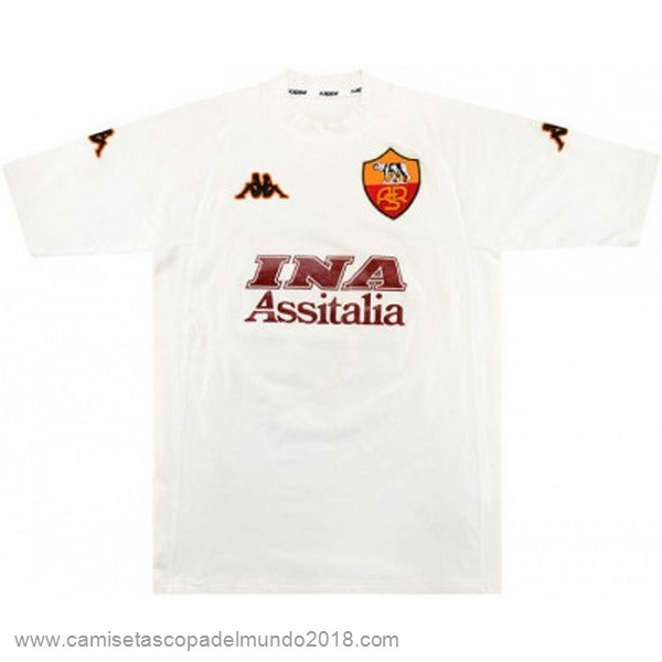 Segunda Camiseta As Roma Retro 2000 2001 Blanco Equipación
