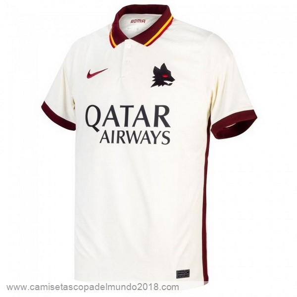 Segunda Camiseta As Roma 2020 2021 Blanco Equipación