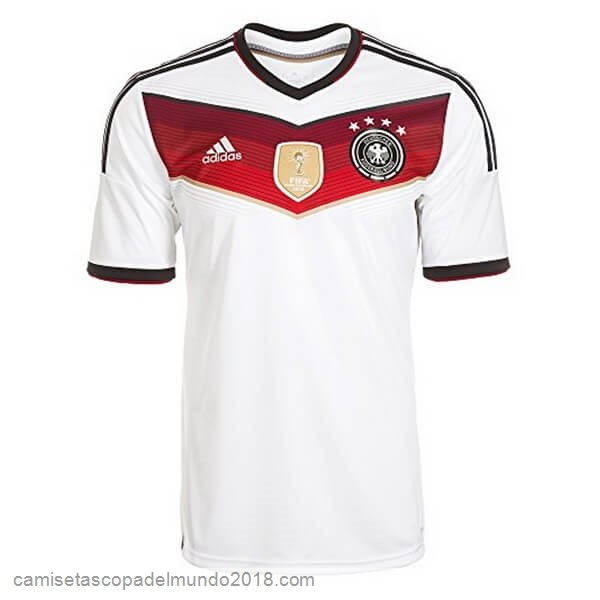 1ª Camiseta Equipación Alemania Retro World Cup 2014 Blanco