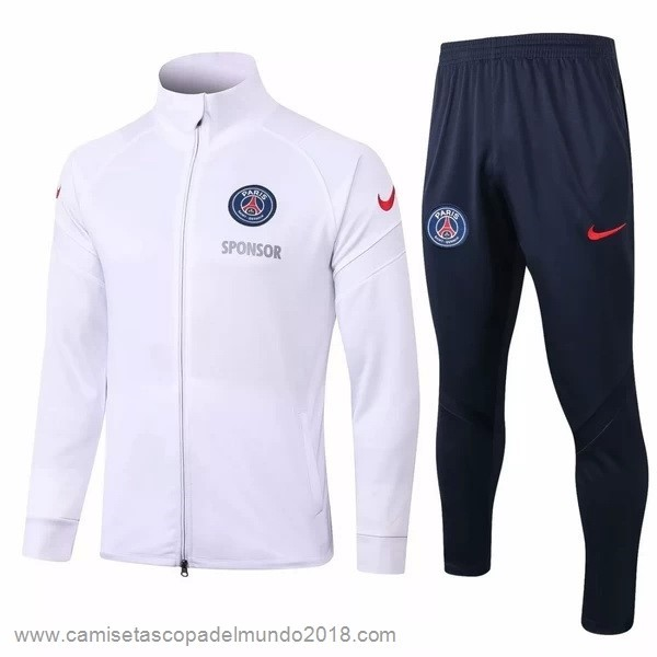 Chandal Paris Saint Germain 2020 2021 Blanco Negro Equipación