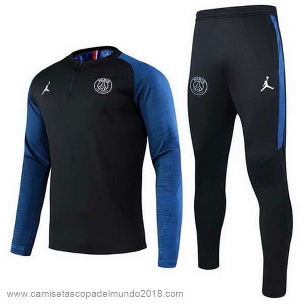 Chandal Paris Saint Germain 2020 2021 Negro Azul Equipación