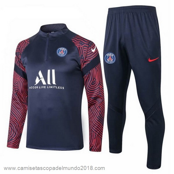 Chandal Paris Saint Germain 2020 2021 Negro Rojo Blanco Equipación