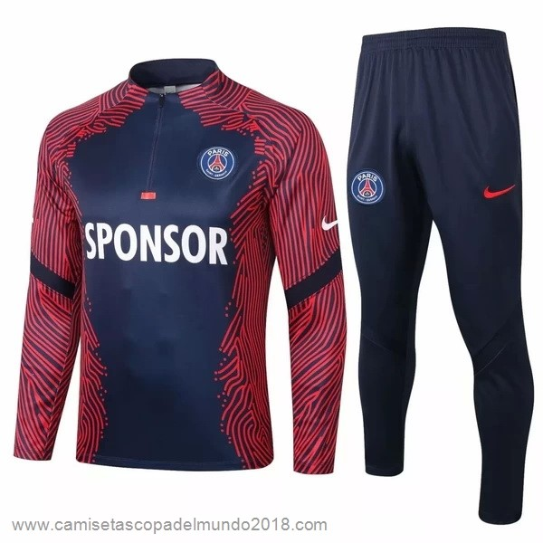 Chandal Paris Saint Germain 2020 2021 Rojo Azul Marino Equipación