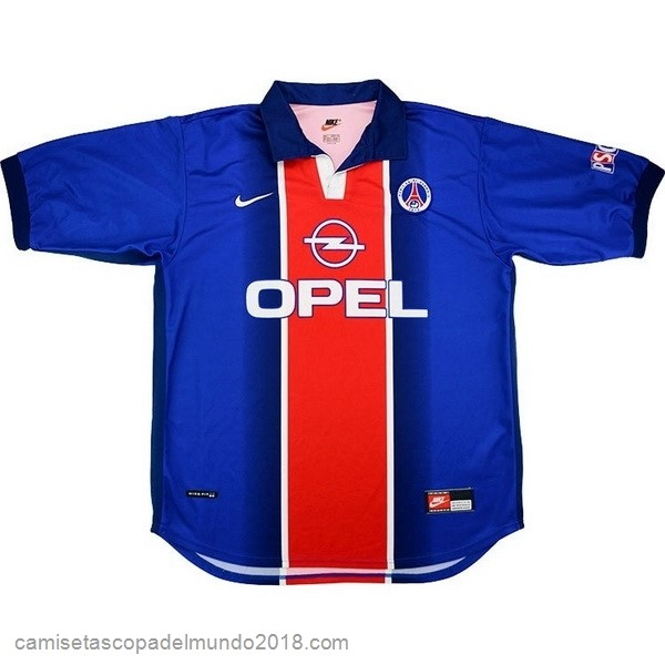 1ª Camiseta Equipación Paris Saint Germain Retro 1998 1999 Azul