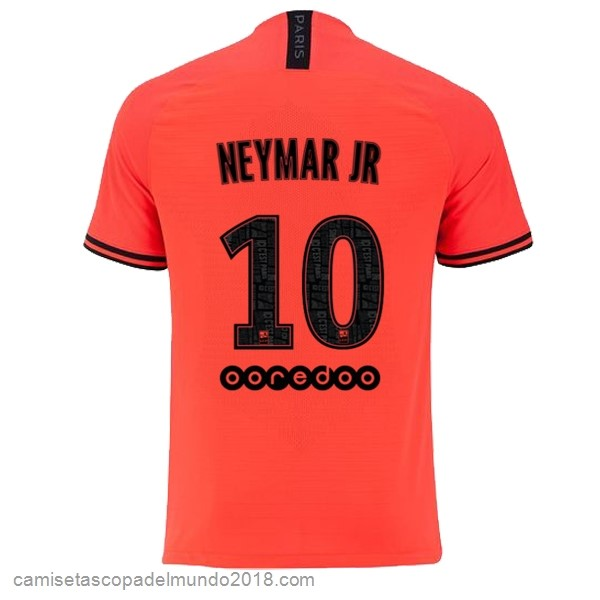 Camiseta Equipación NO.10 Neymar JR 2ª Paris Saint Germain 2019/20 Naranja