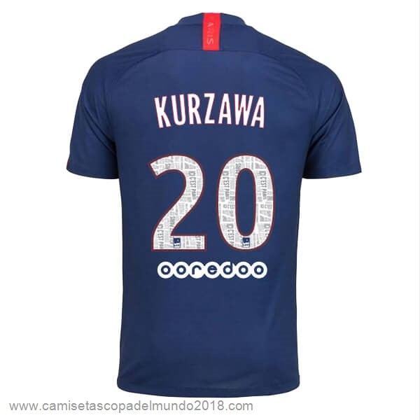 NO.20 Kurzawa Casa Camiseta Paris Saint Germain 2019 2020 Azul Equipación