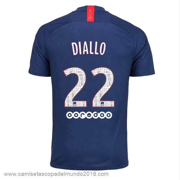 NO.22 Diallo Casa Camiseta Paris Saint Germain 2019 2020 Azul Equipación