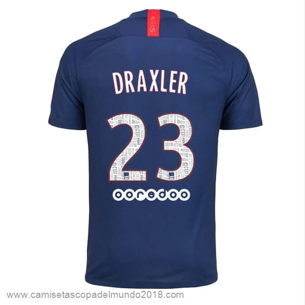 NO.23 Draxler Casa Camiseta Paris Saint Germain 2019 2020 Azul Equipación