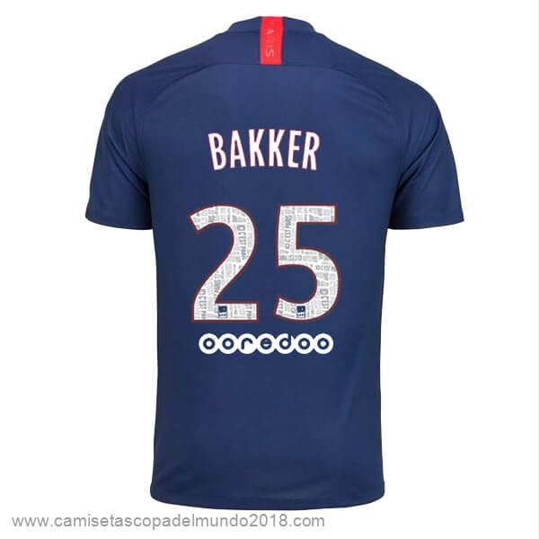 NO.25 Bakker Casa Camiseta Paris Saint Germain 2019 2020 Azul Equipación