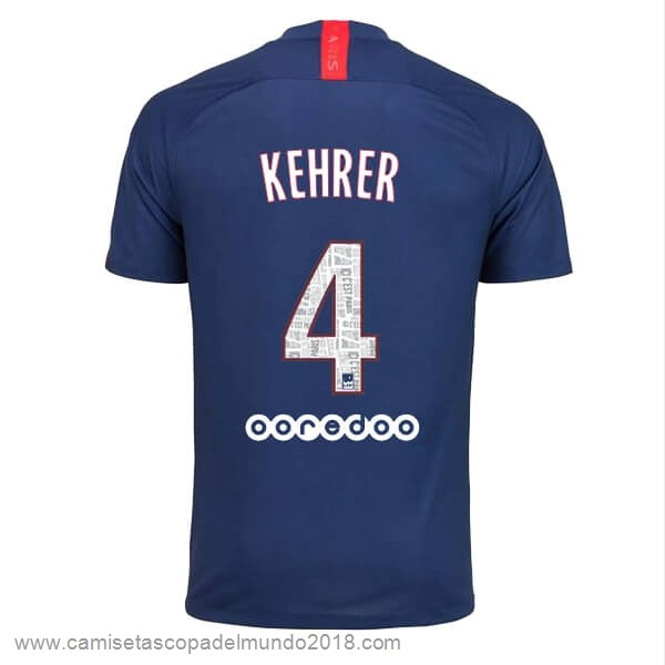 NO.4 Kehrer Casa Camiseta Paris Saint Germain 2019 2020 Azul Equipación