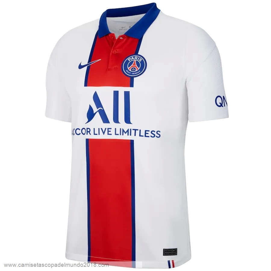 Segunda Camiseta Paris Saint Germain 2020 2021 Blanco Equipación