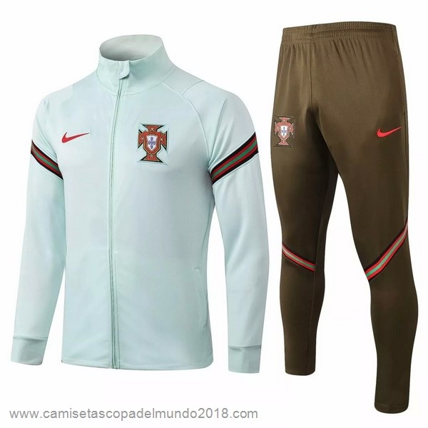 Chandal Portugal 2020 Verde Marron Equipación