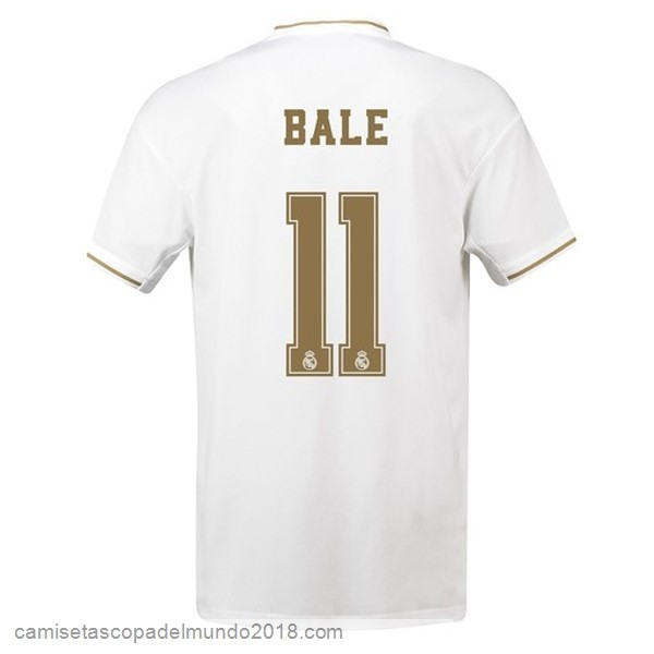 Camiseta Equipación NO.11 Bale 1ª Real Madrid 2019/20 Blanco