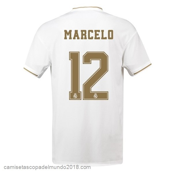 Camiseta Equipación NO.12 Marcelo 1ª Real Madrid 2019/20 Blanco
