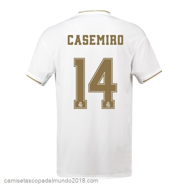 Camiseta Equipación NO.14 Casemiro 1ª Real Madrid 2019/20 Blanco
