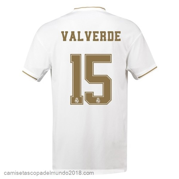 Camiseta Equipación NO.15 Valverde 1ª Real Madrid 2019/20 Blanco