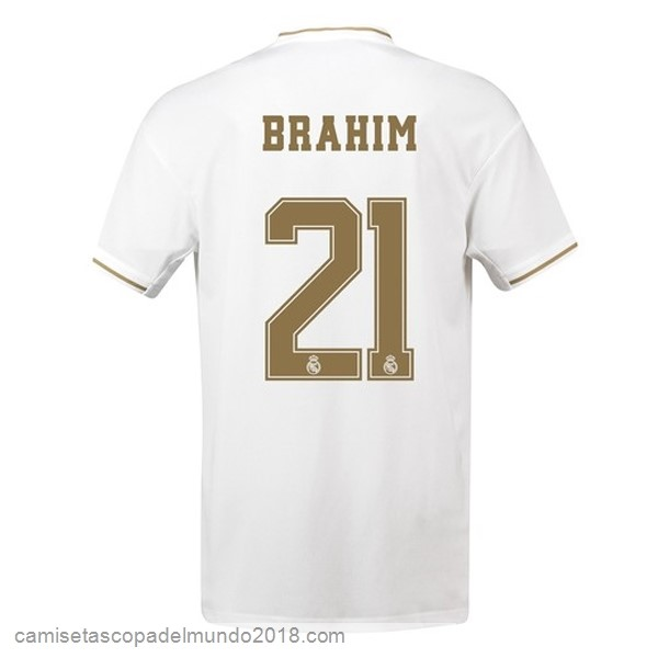 Camiseta Equipación NO.21 Brahim 1ª Real Madrid 2019/20 Blanco