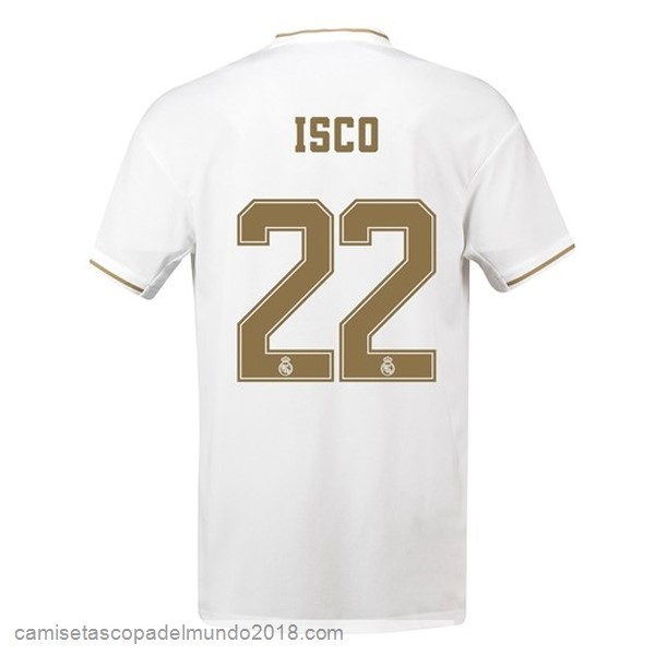 Camiseta Equipación NO.22 Isco 1ª Real Madrid 2019/20 Blanco