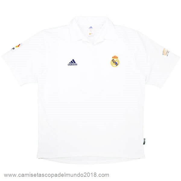 Casa Camiseta Real Madrid Retro 2001 2002 Blanco Equipación