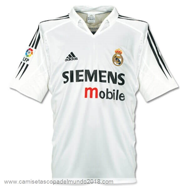 Casa Camiseta Real Madrid Retro 2004 2005 Blanco Equipación