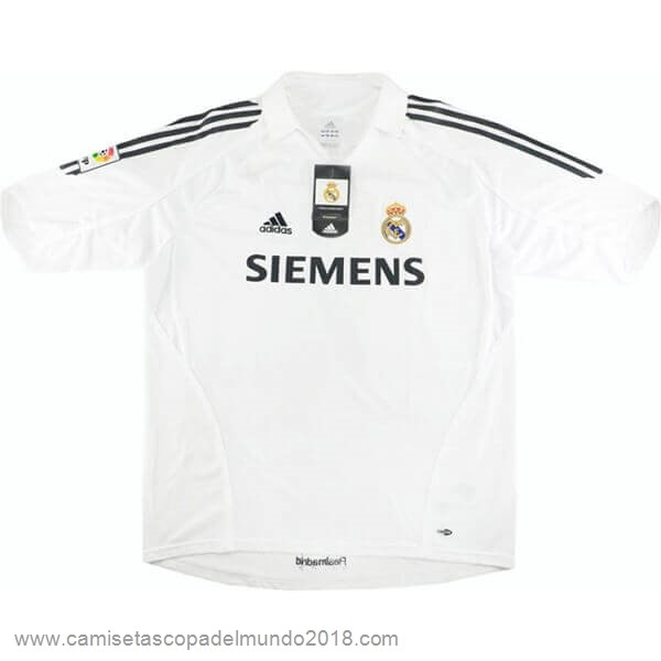 Casa Camiseta Real Madrid Retro 2005 2006 Blanco Equipación