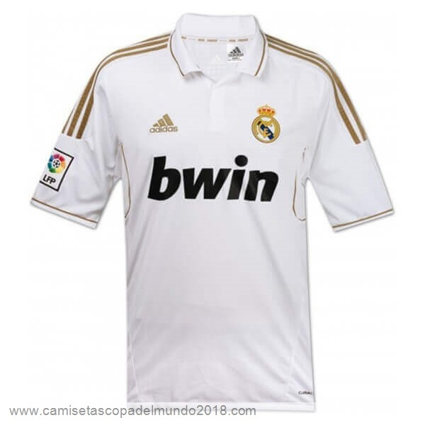 Casa Camiseta Real Madrid Retro 2011 2012 Blanco Equipación