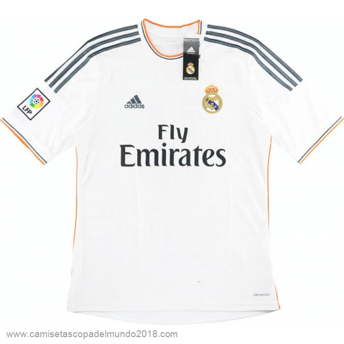 Casa Camiseta Real Madrid Retro 2013 2014 Blanco Equipación
