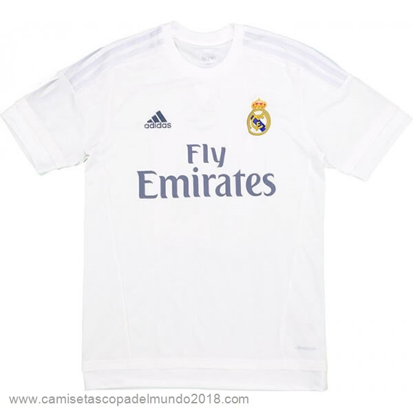 Casa Camiseta Real Madrid Retro 2015 2016 Blanco Equipación