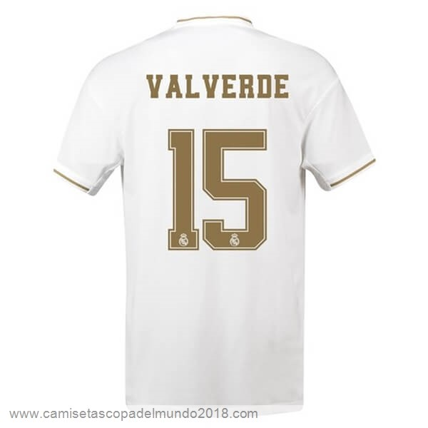 NO.15 Valverde Casa Camiseta Real Madrid 2019 2020 Blanco Equipación