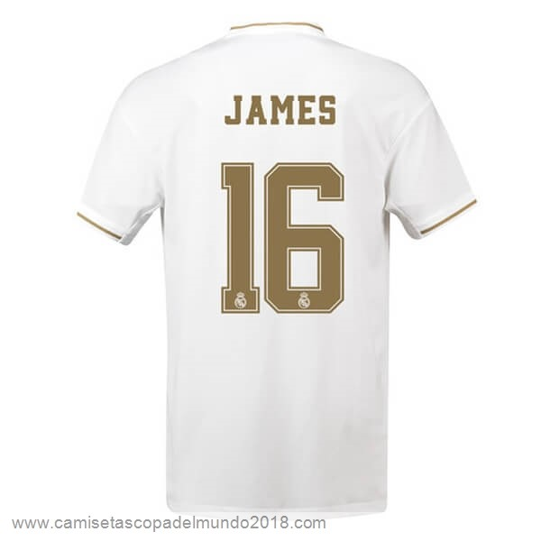 NO.16 James Casa Camiseta Real Madrid 2019 2020 Blanco Equipación
