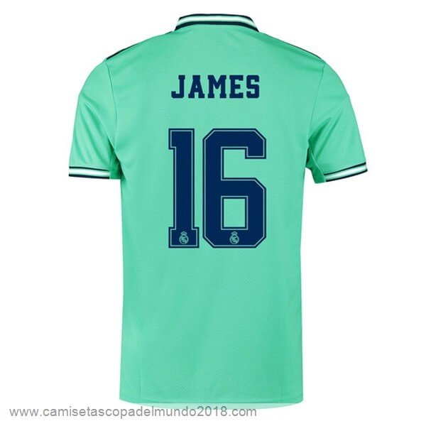 NO.16 James Tercera Camiseta Real Madrid 2019 2020 Verde Equipación