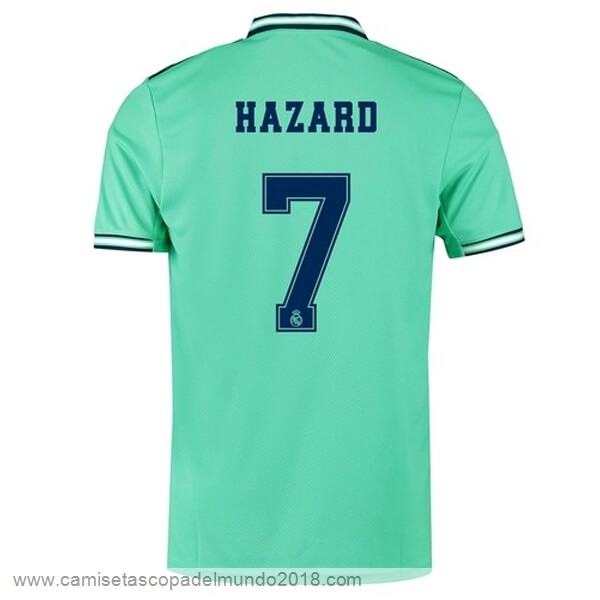 NO.7 Hazard Tercera Camiseta Real Madrid 2019 2020 Verde Equipación