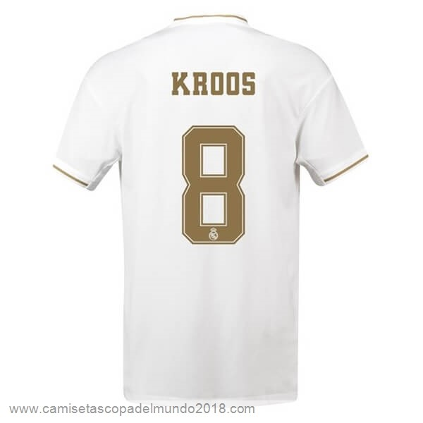 NO.8 Kroos Casa Camiseta Real Madrid 2019 2020 Blanco Equipación