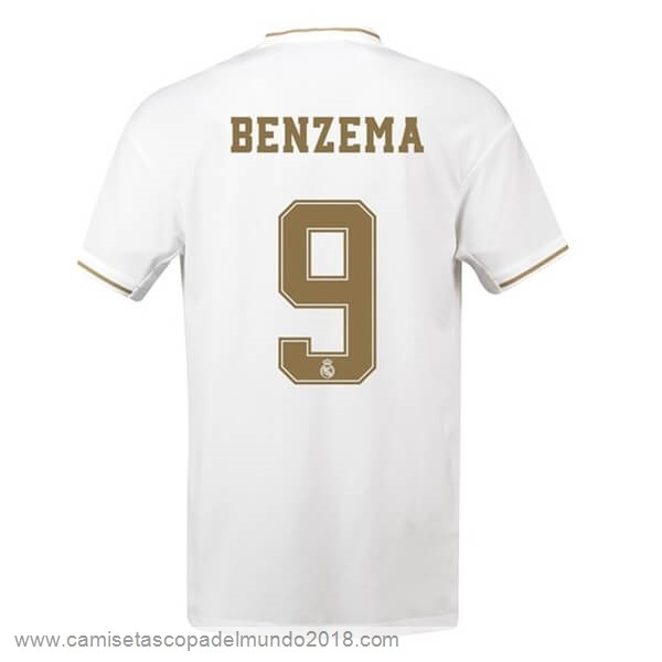 NO.9 Benzema Casa Camiseta Real Madrid 2019 2020 Blanco Equipación