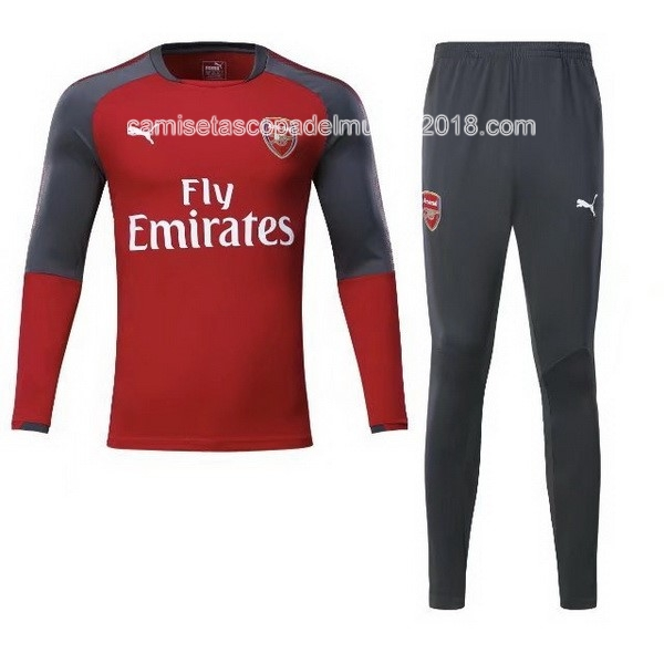 Chandal Arsenal 2017 2018 Rojo Gris Marino