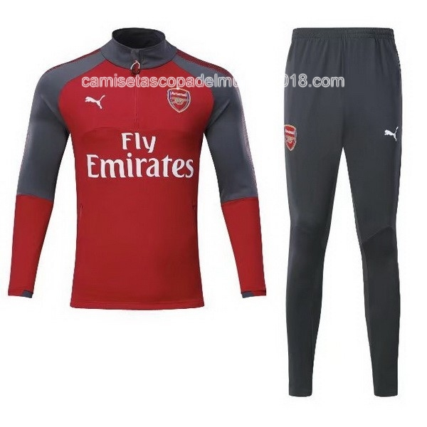 Chandal Arsenal 2017 2018 Rojo Marino Gris