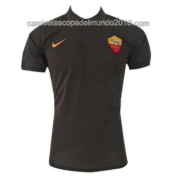 Polo Camiseta AS Roma 2017 2018 Negro