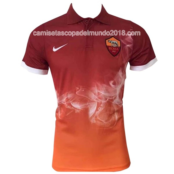 Polo Camiseta AS Roma 2017 2018 Naranja