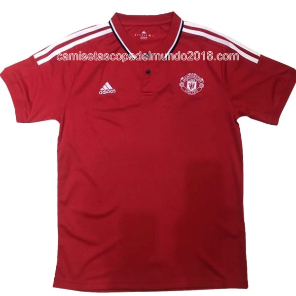 Polo Camiseta Manchester United 2017 2018 Rojo Blanco