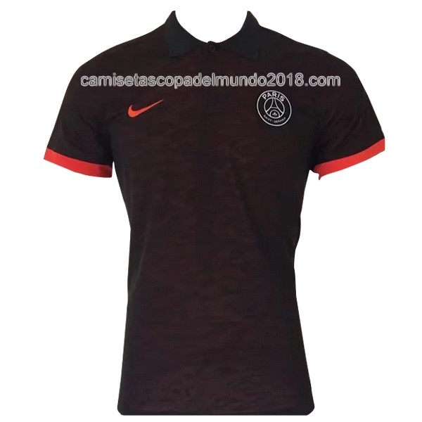 Polo Camiseta Paris Saint Germain 2017 2018 Negro Naranja