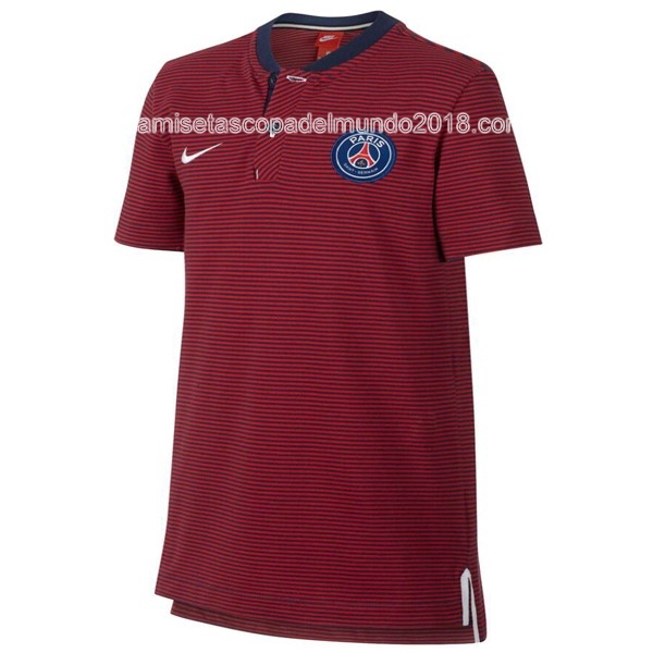 Polo Camiseta Paris Saint Germain 2017 2018 Rojo