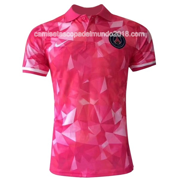 Polo Camiseta Paris Saint Germain 2017 2018 Rosa