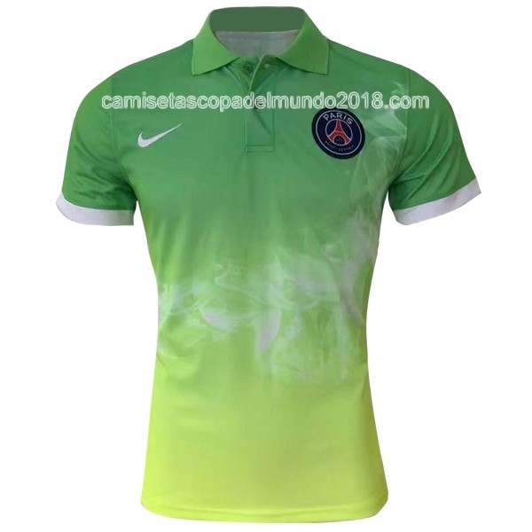Polo Camiseta Paris Saint Germain 2017 2018 Verde