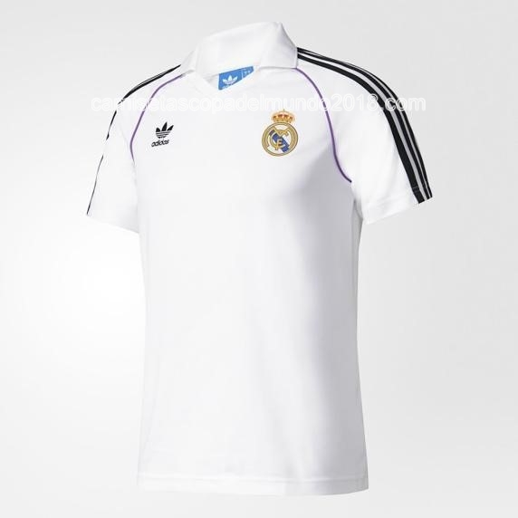 Polo Camiseta Real Madrid Blanco 2017 2018