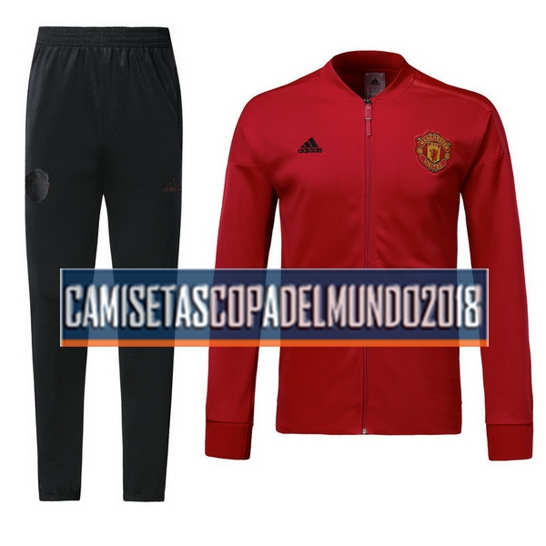 Chandal Manchester United 2018 2019 Rojo Negro