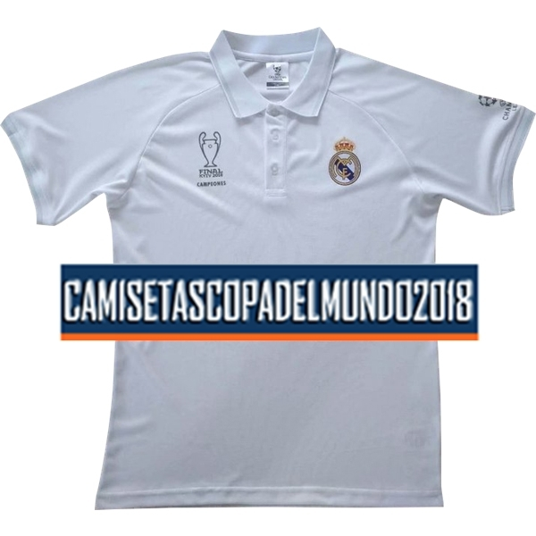 Polo Camiseta Real Madrid 2018 2019 Blanco